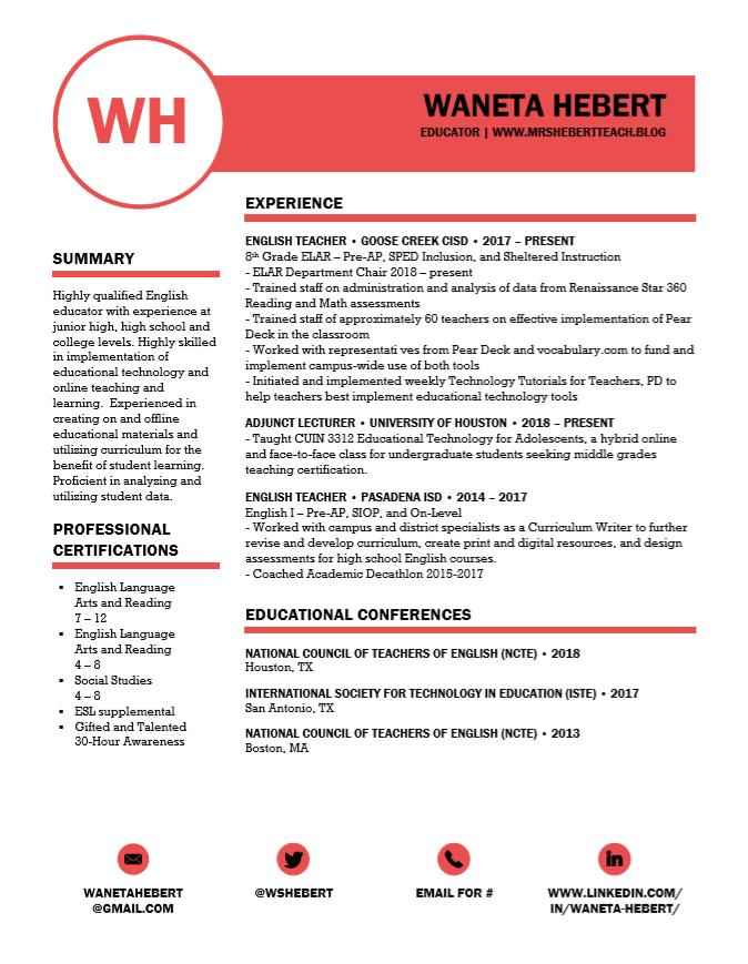 Dec2018 Resume Page 1